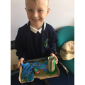 Y2 pupils proud of what they have made at home