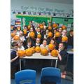 Enjoying pumpkins in Y5