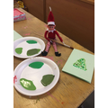 The Elf likes painting