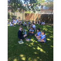 Year 5 and Year 1 art and design in style of Andy Goldsworthy