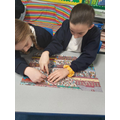 Enjoying a 250 piece jigsaw in Beech Class