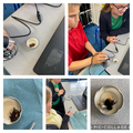 Y6 using an electronic microscope