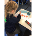 Year 3 designing and painting tribal art patterns