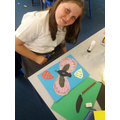 Year 5 working with artist, Bernadette Hughes, July 2017