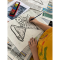 drawing in the style of LS Lowry in Y2