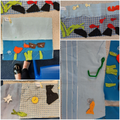 Under the sea Textile Collages in Y4