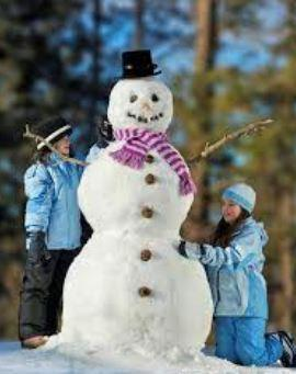 Make a snowman with your family. How tall is your snowmna?