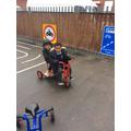 Sharing the bike