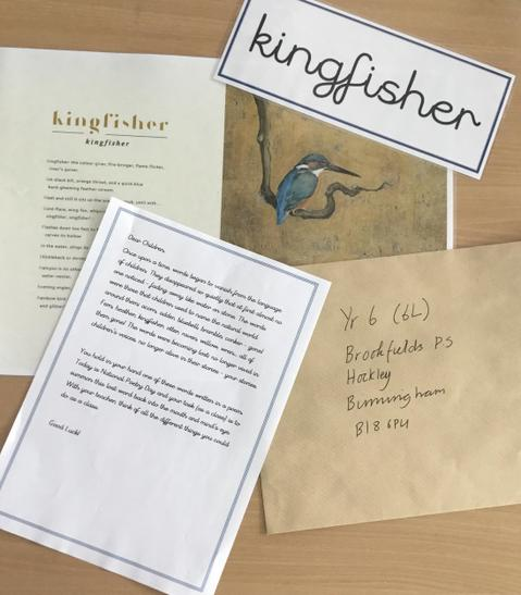 Here are the contents of the letter. Our word was Kingfisher.