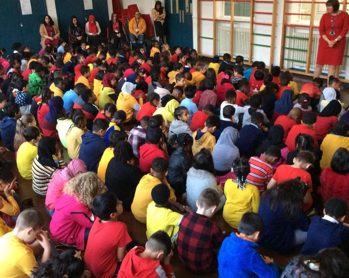 Look at all the red and yellow colours.