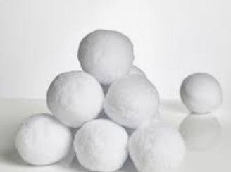 How many snowballs can you make? Can you order them in size? (smallest to biggest)