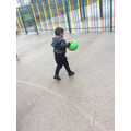 Dribbling with the ball