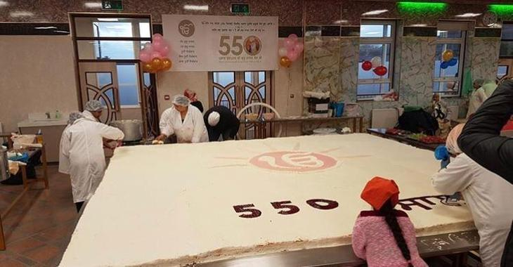 People at Soho Rd Gurdwara made a cake to share.
