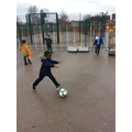 Using footballs