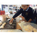 Allowing the dough to prove