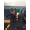 using shapes to stack and build