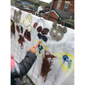 We painted characters from Goldilocks and the 3 Bears.