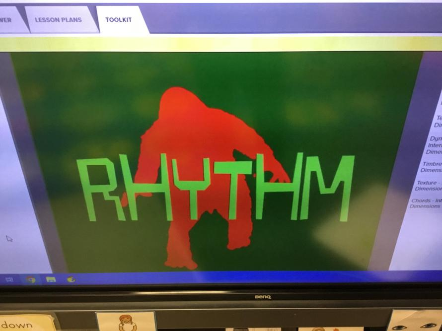 In Music assembly, we clapped a rhythm for a chant