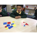 Sorting 2-D shapes (3 sides, not 3 sides).