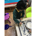 We can show good control when using tools such as spoons.