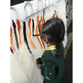 We painted tiger stripes for 'The Tiger Who Came to Tea.'