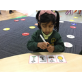 I am using my phonics to read words.
