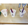 Matching numeral to quantity.