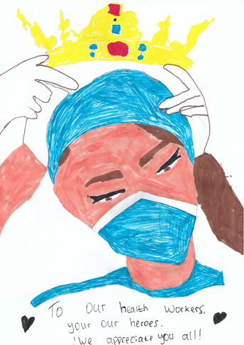 A beautiful picture by Kayley to thank the NHS