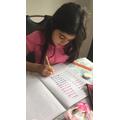 Working hard on Maths