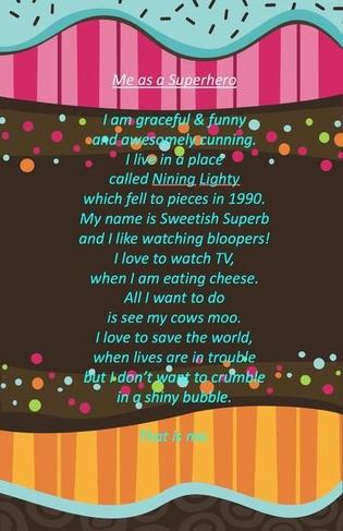 Sia's poem - excellent work!