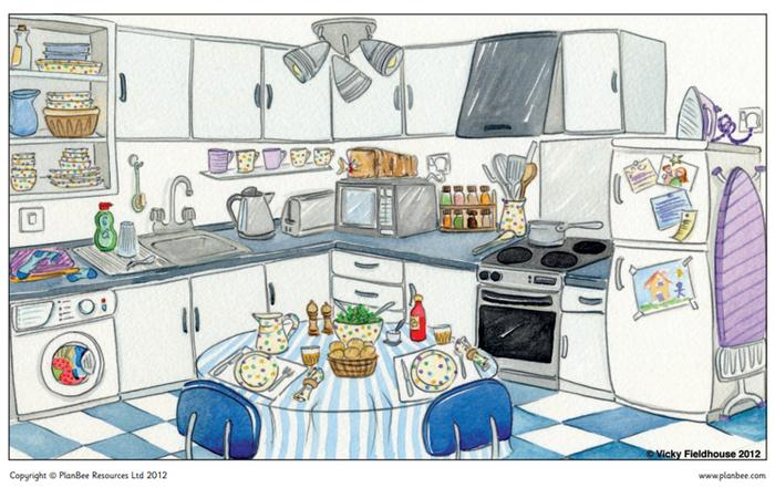 Modern day kitchen