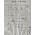 """Learning about synonyms.  """"Words that mean the same as each other."""""""