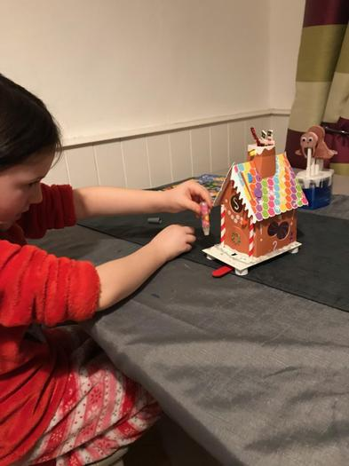 Making a gingerbread house!