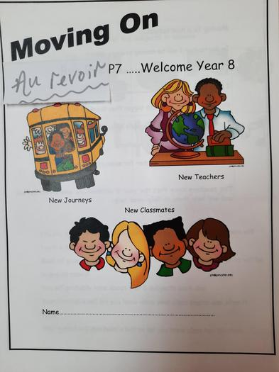 Transition Booklet Cover Page