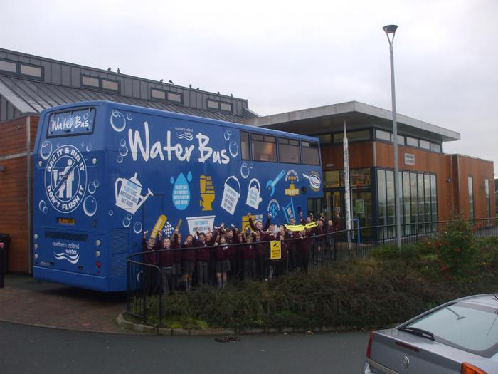 P5 McKee class about to board the NI Water bus.