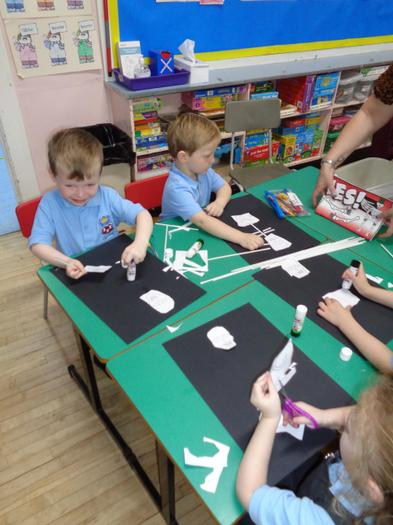 Making skeleons using art straws