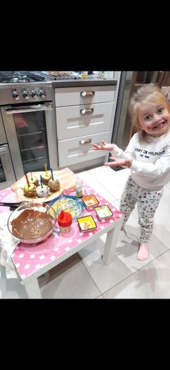 Lola loves being in the kitchen and rustling up some treats for her family.
