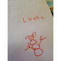 Fantastic snowman Leona