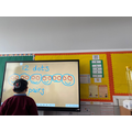 Pairs work on the Smart Board