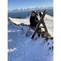Logan climbed to the top of Slieve Binnian!