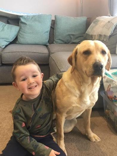 Reece enjoys spending time with and looking after his dog Honey