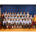 Junior Choir with Mrs Connery (l) & Miss Ashby (r)