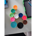 Jenson made number 6 with his playdoh tubs