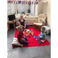 Mrs Williamson's indoor picnic!