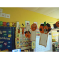 Next we wrote our own Halloween stories featuring our pumpkins!
