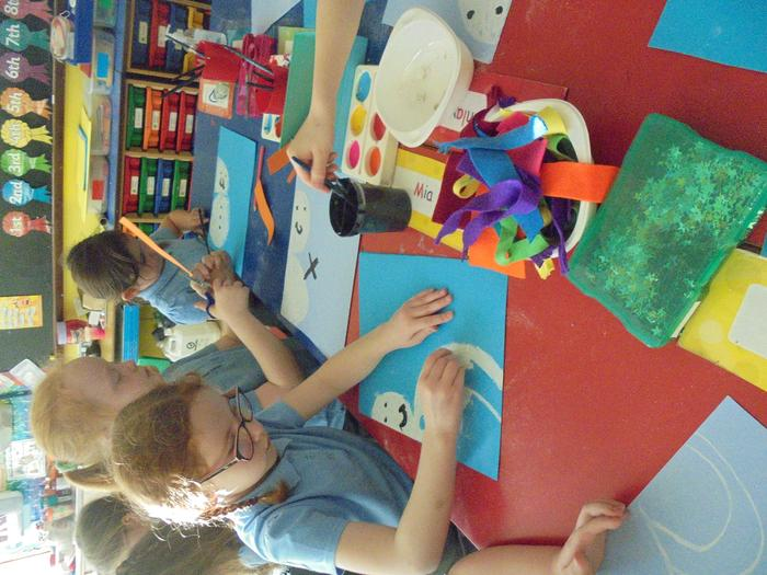 We used pastels to create our snowmen.