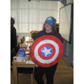 Mrs Hamilton as Captain America!