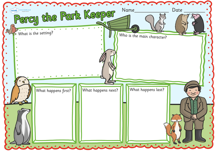 Can you fill in the boxes with the correct information from the story?
