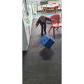 We rolled the dice and recorded the numbers it fell on.