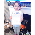 Working hard at home Z - well done!